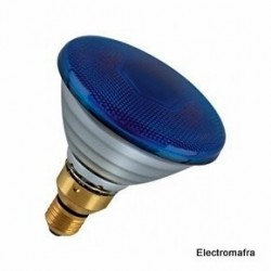 Lâmpada Flood PAR38 80W E27 Azul Philips 01 PAR38-80AZ