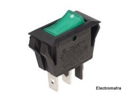 Interruptor basculante on-off luminoso Verde 220 Volts  VIP R902G
