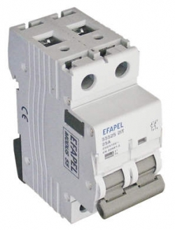 Interruptor - 2P 25 Amp	250/415V~ 50/60Hz Efapel 55525 2IT