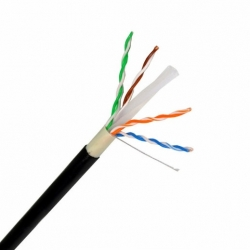 Cabo UTP Cat 6 Cobre Ited Preto Ext.  04 UTP CAT6 CU PT